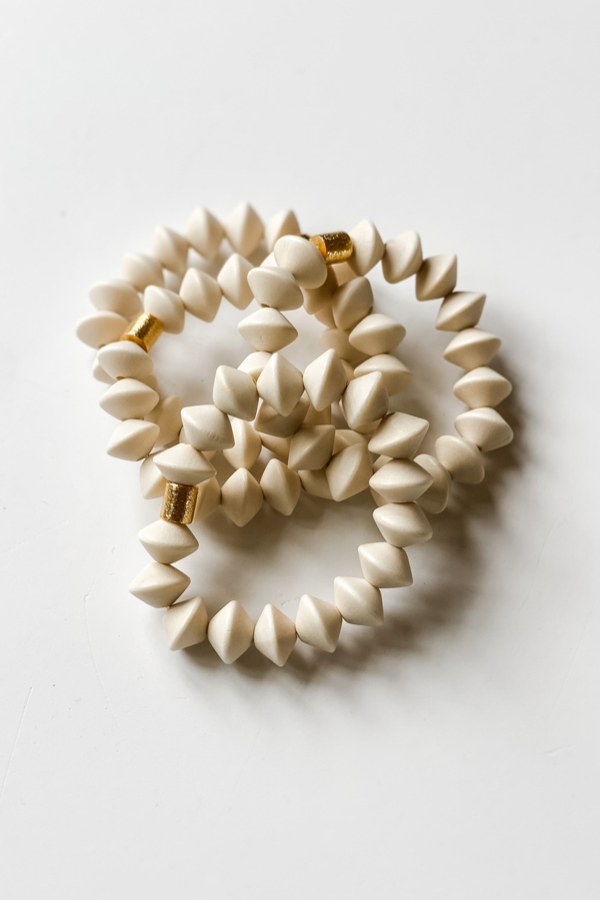 White Bone Bracelet by Rush Co. Creative - Vintage Hope Boutique