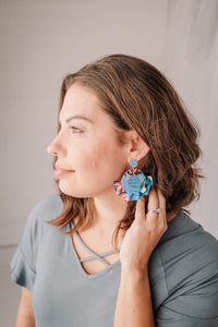 Fabric Floral Earrings