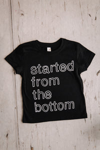 Started From the Bottom Kids Crew Neck Tee