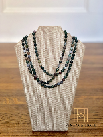 Natural Stone Bead Necklace