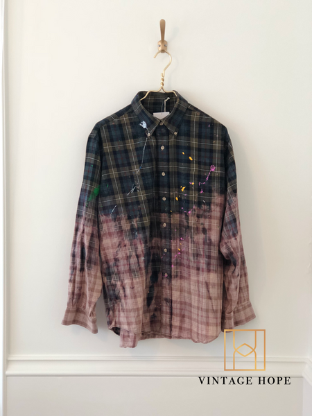 Distressed Splatter Flannels
