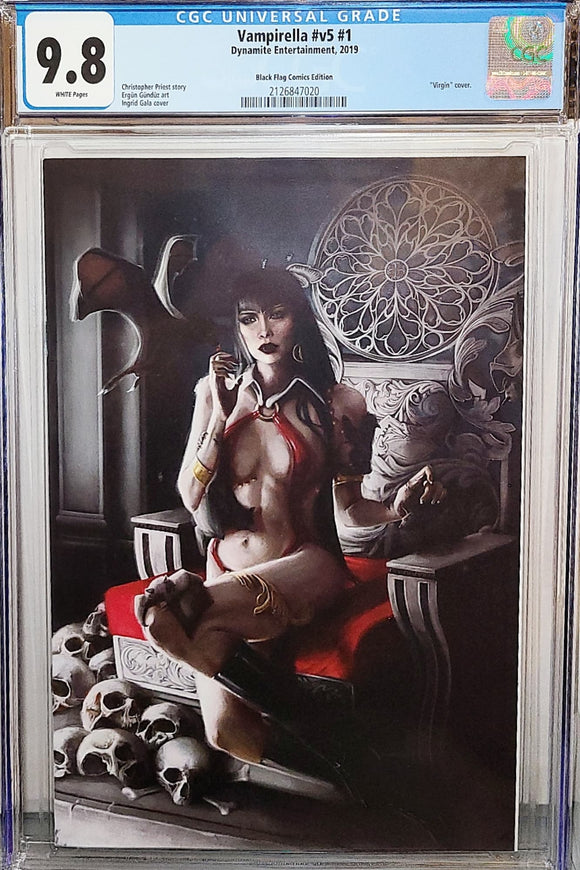 CGC 9.8 VAMPIRELLA #1 Ingrid Gala VIRGIN Exclusive! ***ONLY 1 AVAILABLE!*** - Mutant Beaver Comics