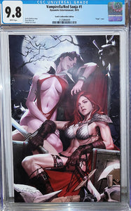CGC 9.8 VAMPIRELLA RED SONJA #1 INHYUK LEE VIRGIN EXCLUSIVE! - Mutant Beaver Comics