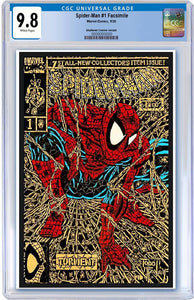CGC 9.8 SPIDER-MAN #1 FACSIMILE SHATTERED Gold Edition EXCLUSIVE! - Mutant Beaver Comics