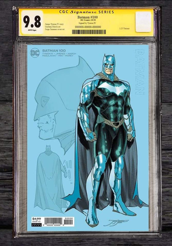 Pre-Order: BATMAN #100 Jimenez 1:25 THE BATMAN Ratio Variant - CGC SS Signed by James Tynion! ***Only 15 Copies Available!*** - Mutant Beaver Comics