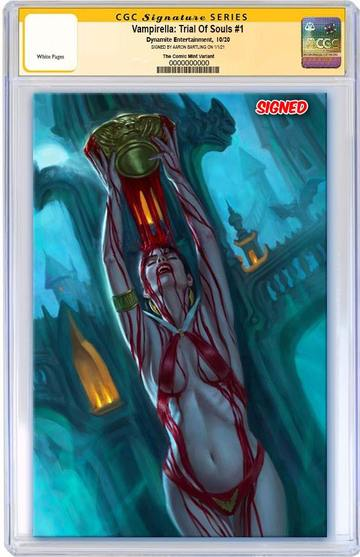 VAMPIRELLA: TRIAL OF THE SOUL AARON BARTLING VIRGIN EXCLUSIVE! CGC SS 9.8 - Mutant Beaver Comics