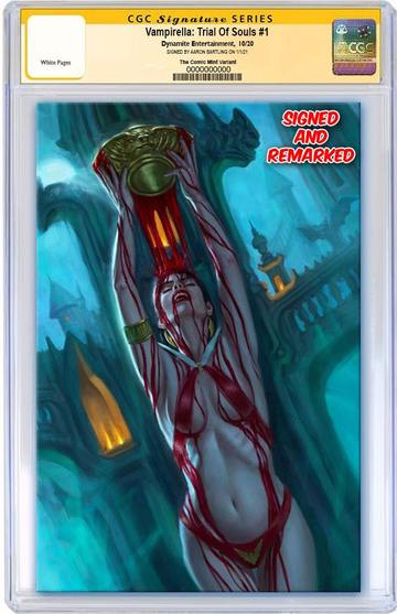 VAMPIRELLA: TRIAL OF THE SOUL AARON BARTLING VIRGIN EXCLUSIVE! CGC 9.8 SS / REMARK - Mutant Beaver Comics