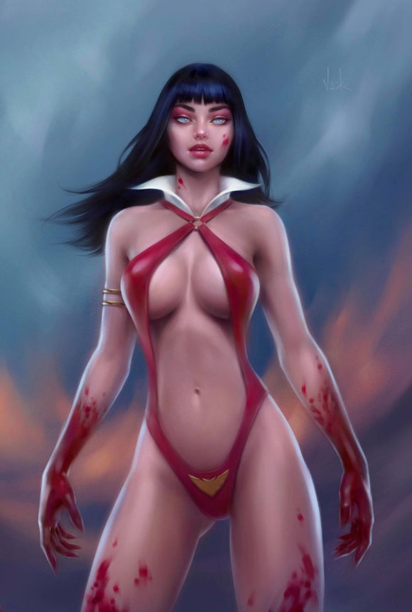 VAMPIRELLA Dark Powers #1 and RED SONJA Price of Blood #1 WILL JACK Connecting VIRGIN Exclusives! 12/30/20 - Mutant Beaver Comics