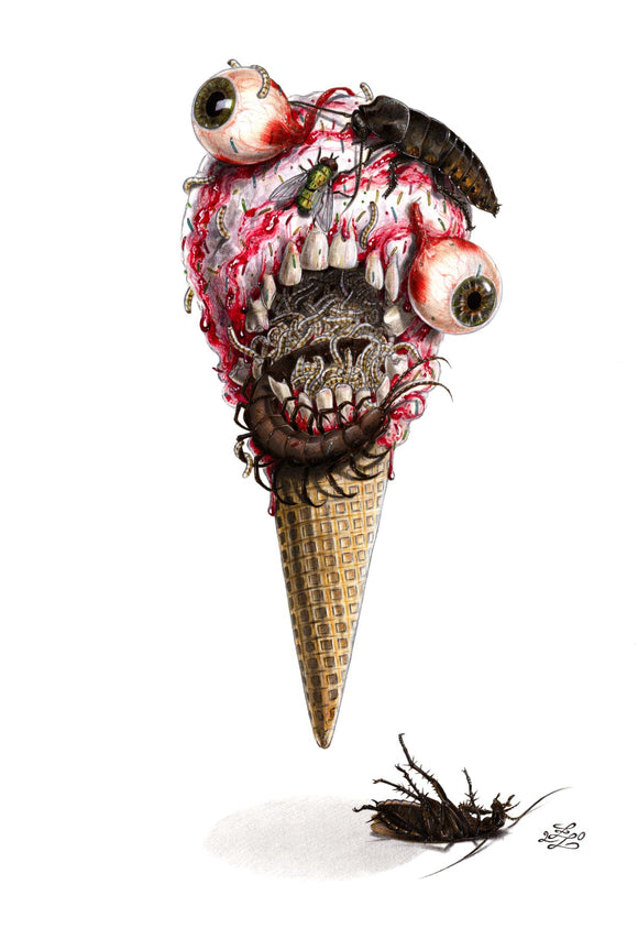 Pre-Order: ICE CREAM MAN #23 Lacchei MUTANT BEAVER Metal Virgin Exclusive! (Ltd to ONLY 150!) - Mutant Beaver Comics