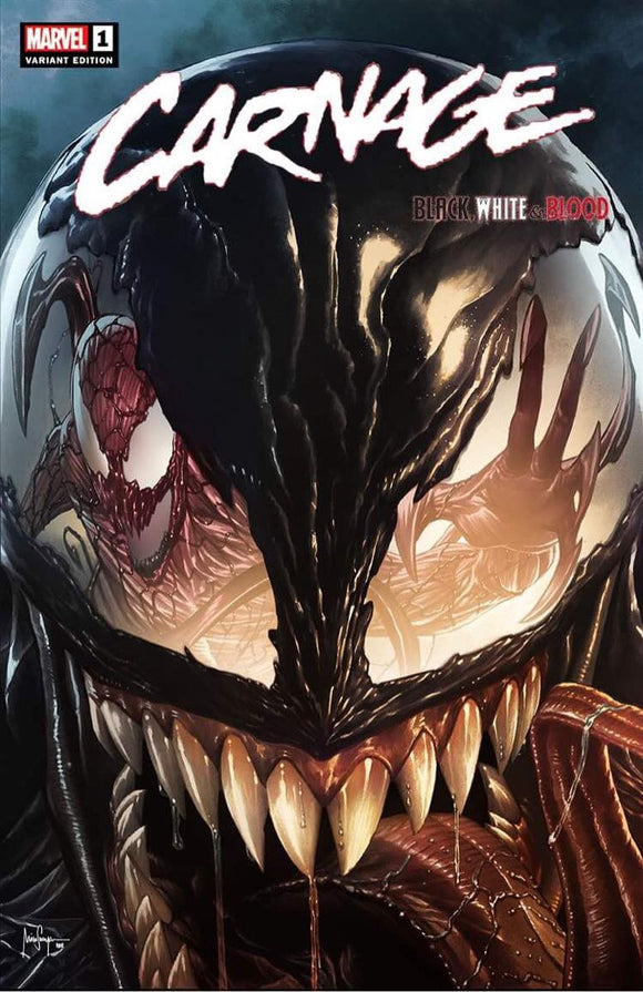 Pre-Order: CARNAGE BLACK WHITE AND BLOOD #1 MICO SAUYAN EXCLUSIVE! 04/28/21