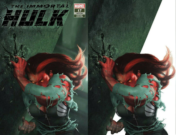 Pre-Order: IMMORTAL HULK #17 RAHZZAH Exclusive SET (Trade Dress + Virgin)