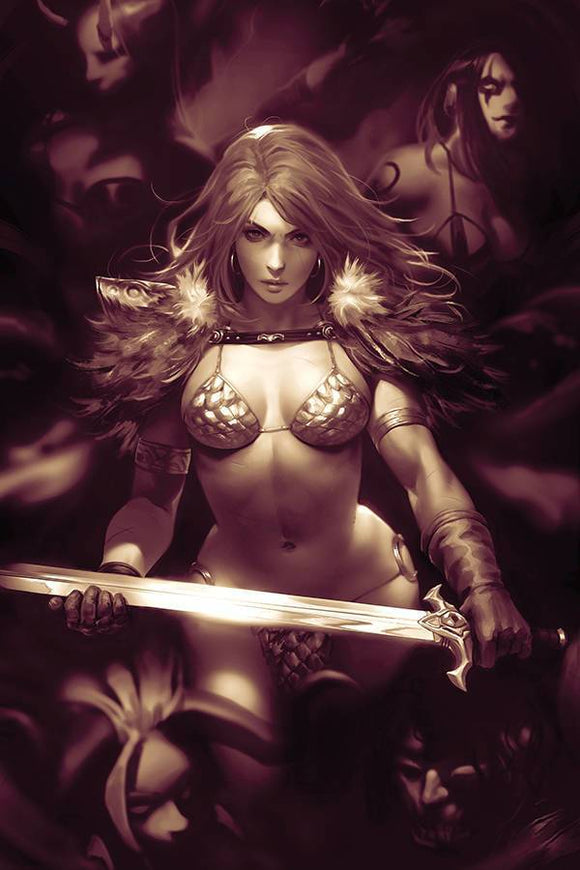 RED SONJA AGE OF CHAOS #2 1:11 CHEW MONOCHROME VIRGIN RATIO - Mutant Beaver Comics