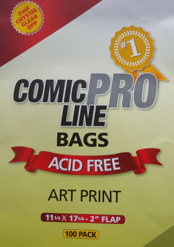 Crystal Clear 2 mil PRO Comic Bags - ART PRINT 11 1/4