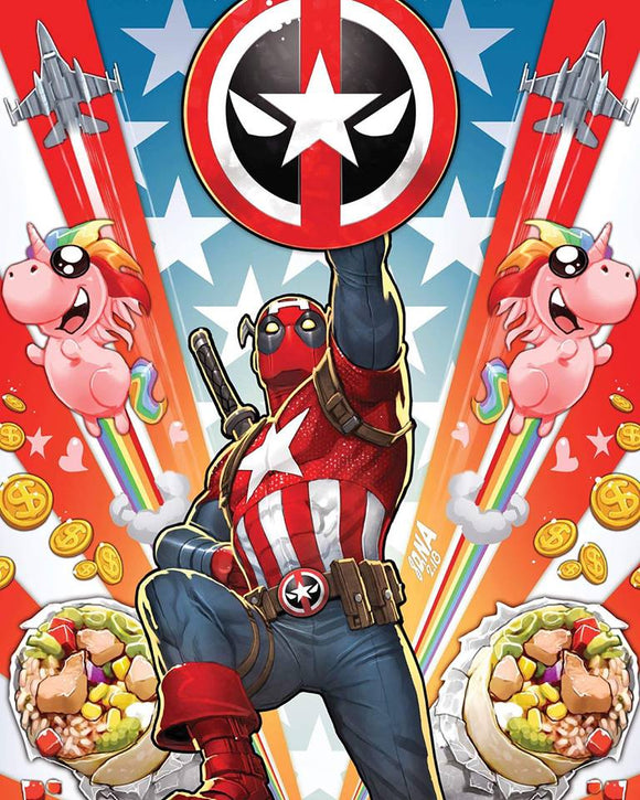 Captain America #701 VIRGIN Deadpool Variant! Only 1000 made!