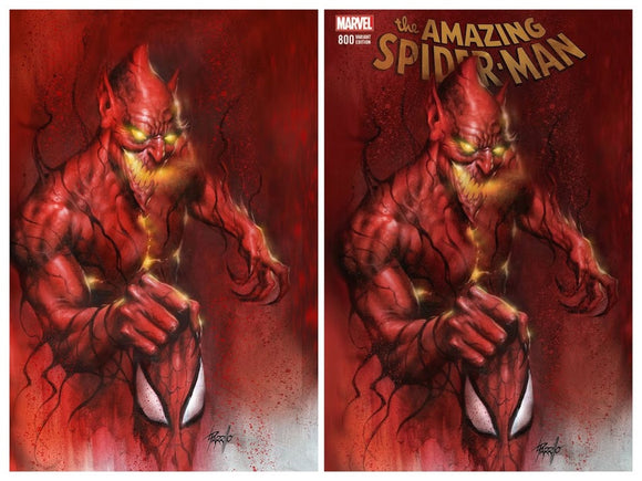 AMAZING SPIDER-MAN #800 Parrillo Exclusive SET (Trade & Virgin)! Limited to ONLY 700 Sets! ***96 pg Landmark Issue***