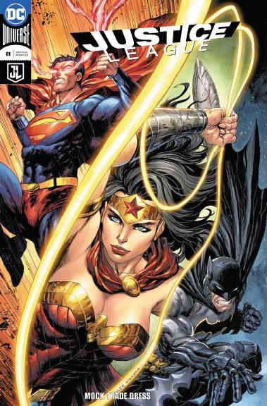 JUSTICE LEAGUE #1 Tyler Kirkham TRADE DRESS (Cover A) 06/06/18