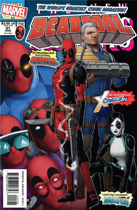 DEADPOOL #1 Exclusive by JTC (Newsstand Version) ONLY 1000 made!! 06/06/18 - Mutant Beaver Comics