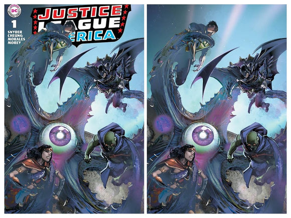 JUSTICE LEAGUE #1 by Clayton Crain! Exclusive SET (Trade & Virgin) ONLY 600 Sets worldwide!