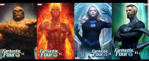 "Pre-Order: FANTASTIC FOUR #1 Spec Pack from Stanley ""Artgerm"" Lau! All 4 Covers at 25% OFF Cover Price!! Release Date is 08/08/18"