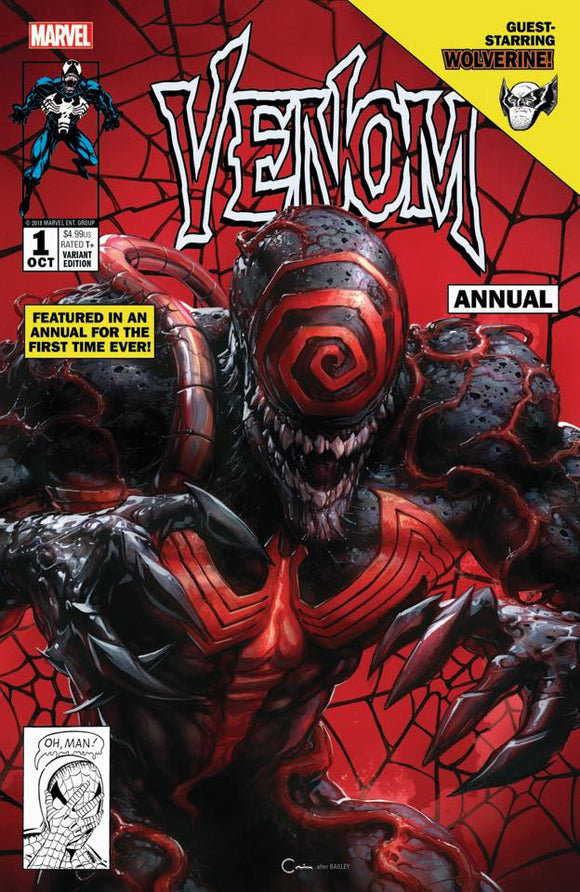 VENOM ANNUAL #1 Clayton Crain TRADE DRESS Exclusive! ***ONLY 700 Copies Produced!*** - Mutant Beaver Comics