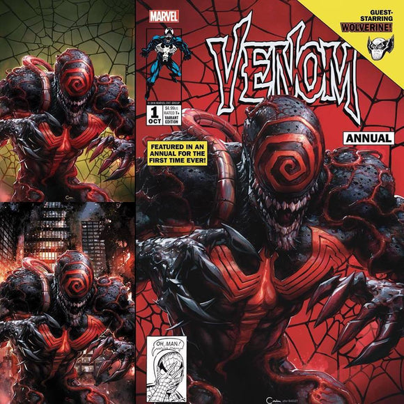IN STOCK: VENOM ANNUAL #1 Clayton Crain COMPLETE SET (3 Covers)! ***ONLY 200 Sets Produced!***