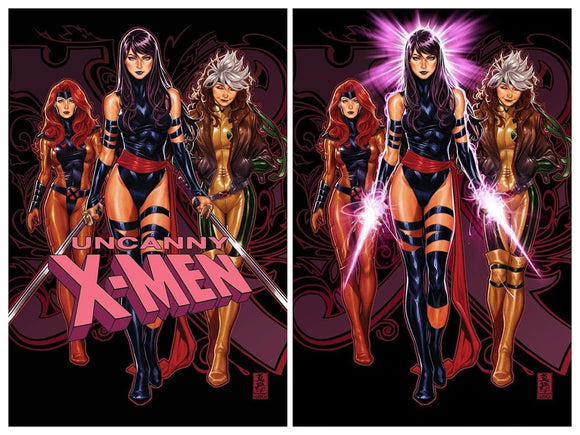 Pre-Order: UNCANNY X-MEN #1 Mark Brooks Exclusive SET (Trade Dress + Virgin)!! 11/21/18 ***BEST VALUE: Save $7!!***