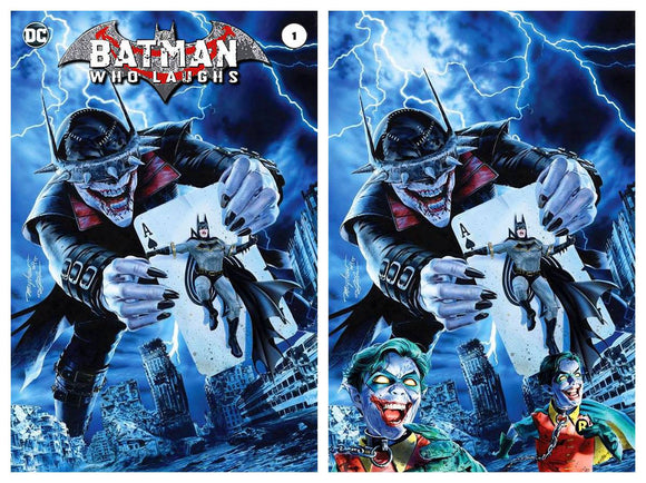 BATMAN WHO LAUGHS #1 Mike Mayhew SET (Trade + Virgin)! ***ONLY 700 Sets Available*** - Mutant Beaver Comics