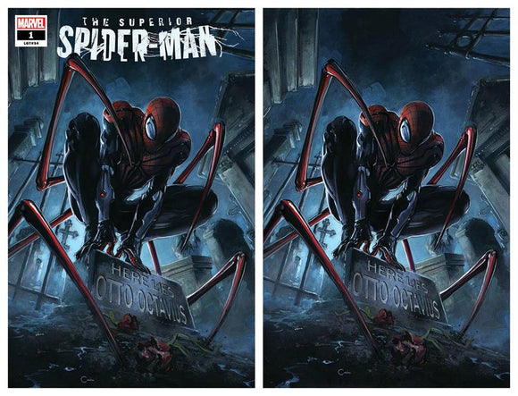 SUPERIOR SPIDER-MAN #1 Clayton Crain SET (Trade + Virgin)! ***ONLY 750 Sets Available + Numbered COA!*** - Mutant Beaver Comics
