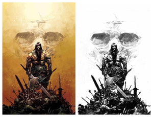 CONAN THE BARBARIAN #1 GERARDO ZAFFINO Color Virgin & B/W Inks Virgin Set! ***ONLY 500 Sets with COA!*** - Mutant Beaver Comics