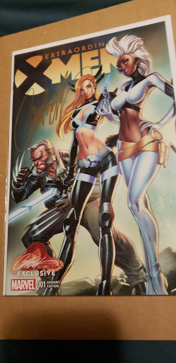 EXTRAORDINARY X-MEN #1 J. Scott Campbell SIGNED with COA! - Mutant Beaver Comics