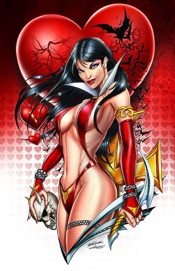 VAMPIRELLA VALENTINES DAY SPECIAL Virgin Exclusive by Jamie Tyndall! ***ONLY 500 Copies Worldwide!*** - Mutant Beaver Comics