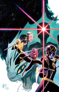 Pre-Order: POWER RANGERS #1 1:100 MATTEO SCALERA RATIO VARIANT 11/25/20 - Mutant Beaver Comics