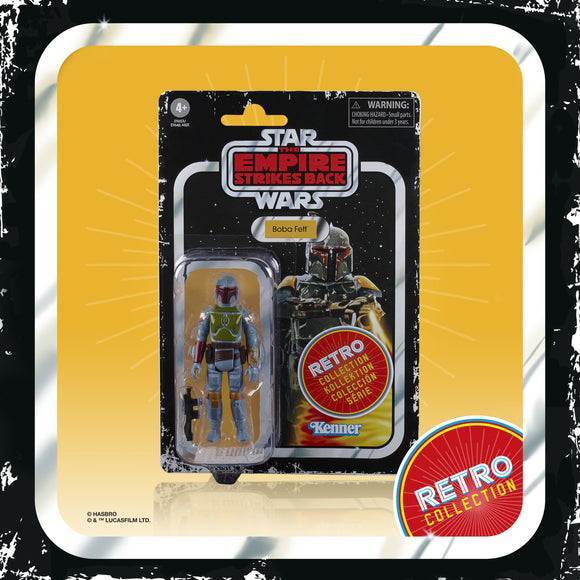 Star Wars ESB Vintage Retro Wave 2 Boba Fett Bounty Hunter 3.75