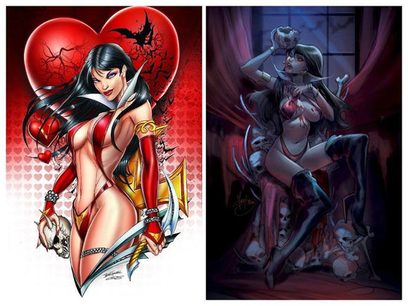 Pre-Order: VAMPIRELLA LOVE PACK!! 2 Virgin Exclusives by Tyndall & Andolfo! ***BEST VALUE ~ SAVE $10!***