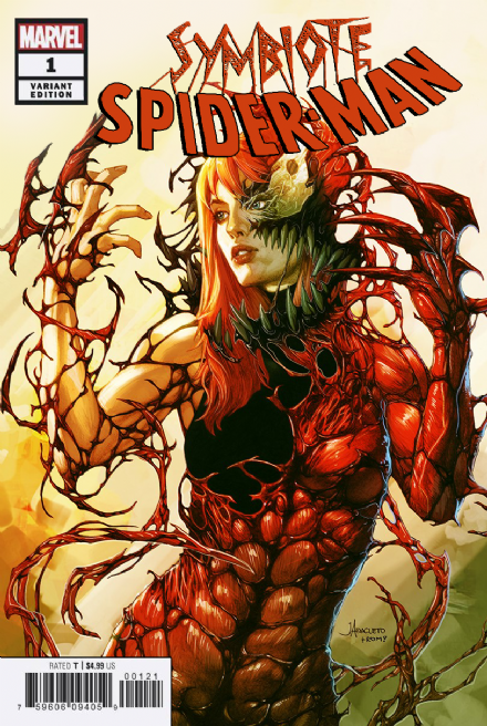 Pre-Order: SYMBIOTE SPIDER MAN #1 Jay Anacleto CARNAGE QUEEN Exclusive! ***Available in TRADE DRESS / B/W SKETCH***