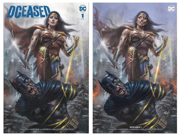 DCeased #1 Lucio Parrillo Exclusive SET (Trade + Infected Trade Dress w/ COAs) ***Ltd to ONLY 750 Sets!*** - Mutant Beaver Comics