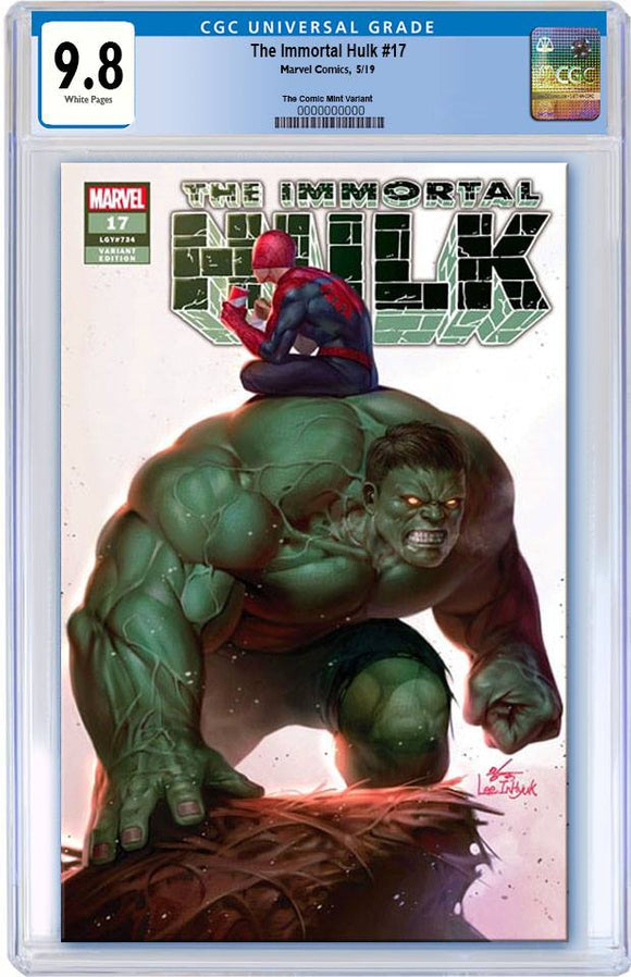 Pre-Order: THE IMMORTAL HULK #17 Inhyuk Lee Exclusive CGC 9.8 Trade Dress ***Please Allow 6-8 Weeks After Release for CGC Processing***