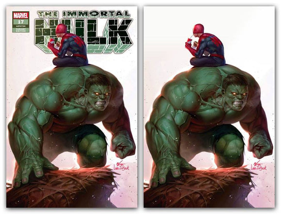 Pre-Order: THE IMMORTAL HULK #17 Inhyuk Lee Exclusive SET (Trade Dress + Virgin w/COA!) ***ONLY 600 Sets Available!***