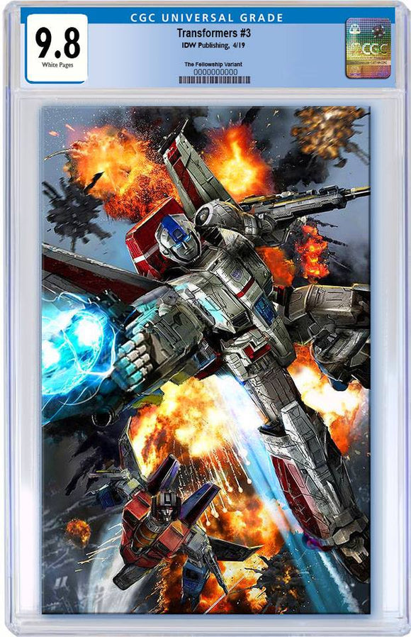 Pre-Order: TRANSFORMERS #3 John Gallagher VIRGIN Exclusive CGC 9.8! ***Please Allow 6-8 Weeks After Release For CGC Processing***