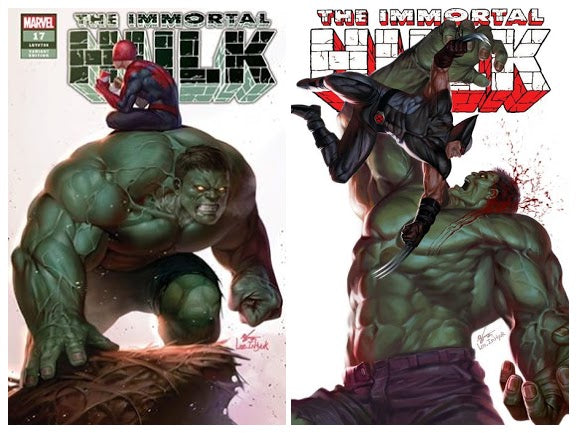 Pre-Order: THE IMMORTAL HULK #17 Inhyuk Lee Exclusive MEGA PACK (Spidey Cover + Wolvie Cover)!! ***BEST VALUE!*** - Mutant Beaver Comics