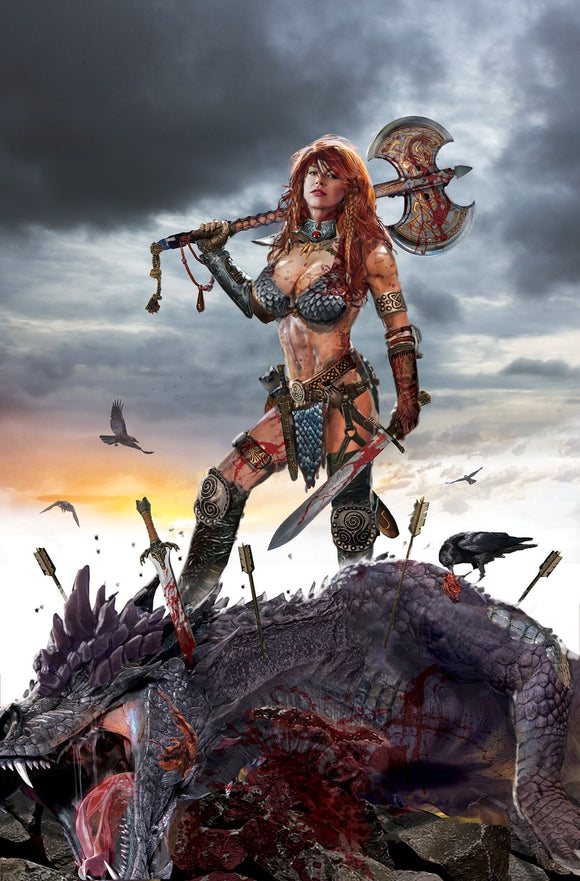RED SONJA: BIRTH OF SHE DEVIL #1 JOHN GALLAGHER Virgin Exclusive ***Ltd to ONLY 500 Copies!*** - Mutant Beaver Comics