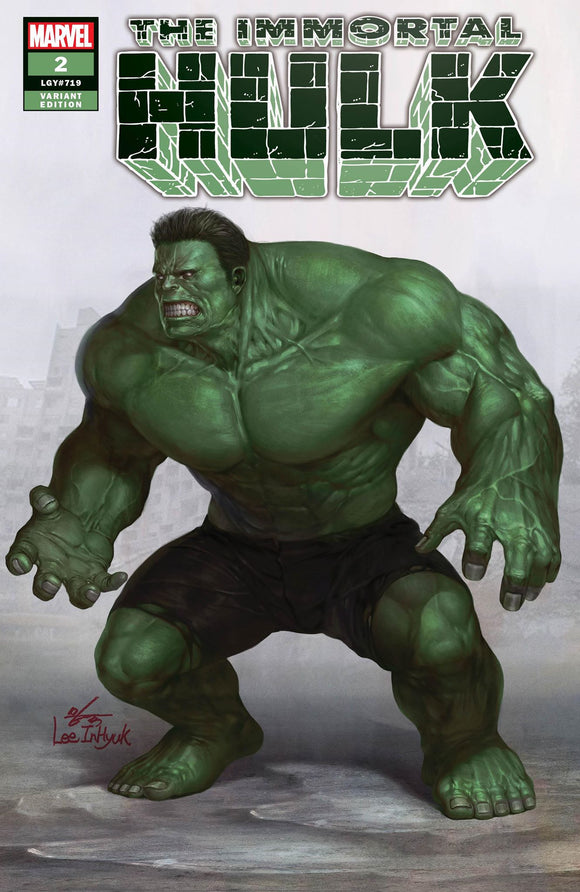 THE IMMORTAL HULK #2 Inhyuk Lee Exclusive TRADE DRESS! ***Ltd to ONLY 800 Copies!*** - Mutant Beaver Comics