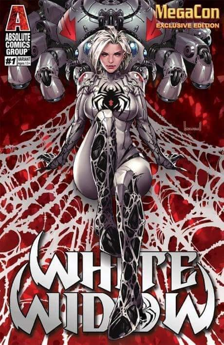 WHITE WIDOW #1 Kael Ngu MEGACON Exclusive! ***ONLY 250 Copies!*** - Mutant Beaver Comics