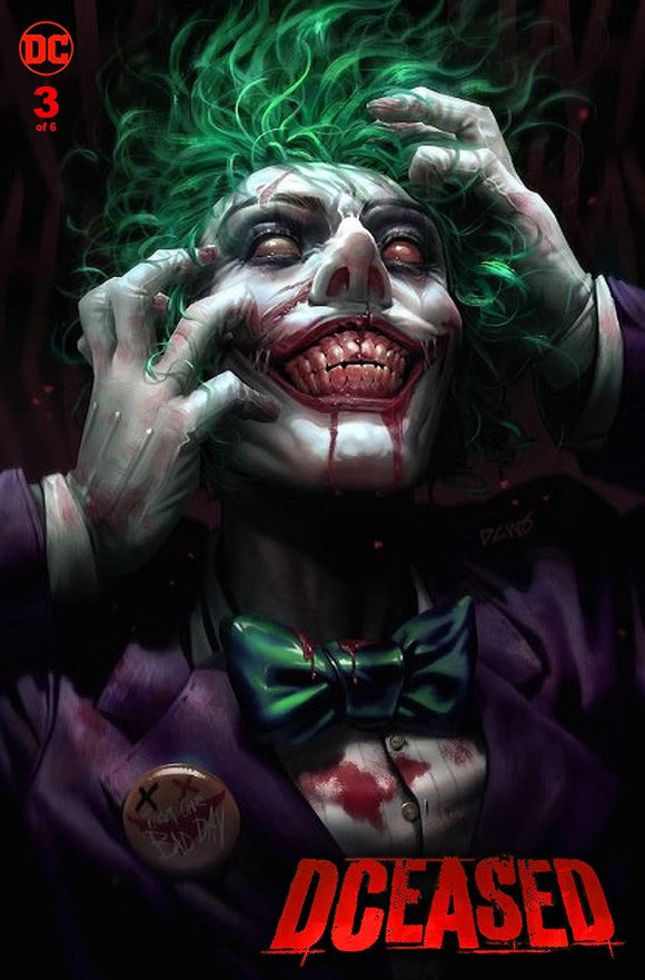 DCeased #3 Derrick Chew JOKER Exclusive! ***Available in TRADE DRESS & VIRGIN SETS!*** - Mutant Beaver Comics