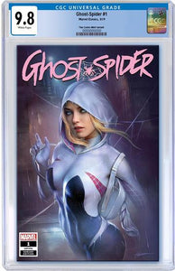 CGC 9.8 GHOST SPIDER #1 Shannon Maer TRADE DRESS Exclusive! - Mutant Beaver Comics