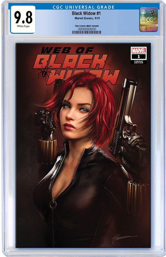 CGC 9.8 WEB OF BLACK WIDOW #1 Shannon Maer TRADE DRESS Exclusive! - Mutant Beaver Comics