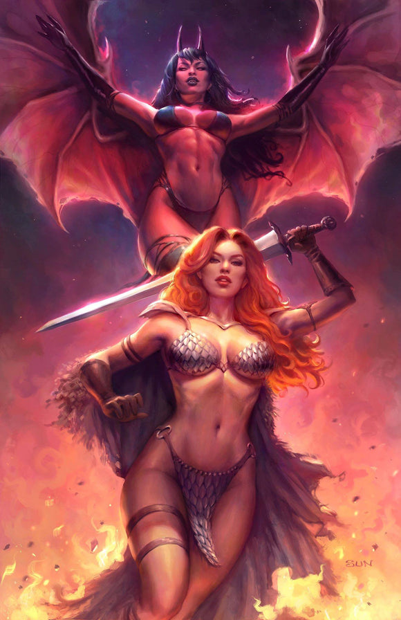 RED SONJA AGE OF CHAOS #1 SUN KHAMUNAKI VIRGIN EXCLUSIVE! ***LIMITED TO ONLY 500*** - Mutant Beaver Comics