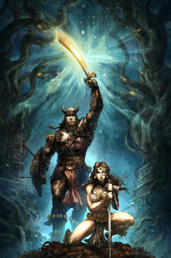 CIMMERIAN - Queen of the Black Coast #1 Alan Quah Virgin Exclusive (Homage to Conan the Barbarian poster) ***Ltd to Only 400*** - Mutant Beaver Comics