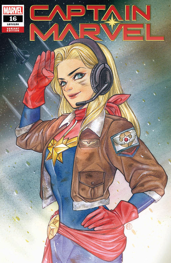 Pre-Order: CAPTAIN MARVEL #16 (#150 Legacy) Peach Momoko Exclusive! ***Available in TRADE DRESS, VIRGIN SET, CGC 9.8, CGC SS, & CGC REMARK*** - Mutant Beaver Comics