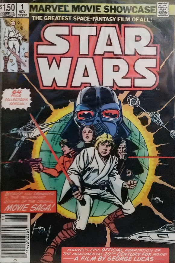 Marvel Movie Showcase Star Wars #1 (1982) 64 Page Collector's Special! (Newsstand Edition) - Mutant Beaver Comics